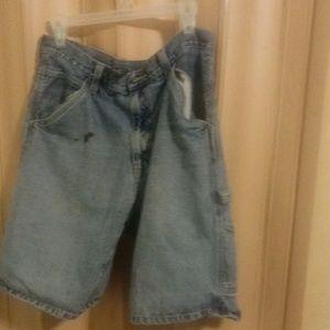 Carpenter style men's jean shorts